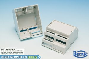 Din Rail enclosure - Oval holes