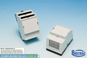 Din Rail enclosure ventilated cover